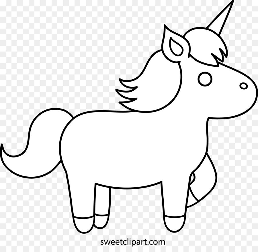 Unicorn easy clipart coloring book colouring pages unicorn