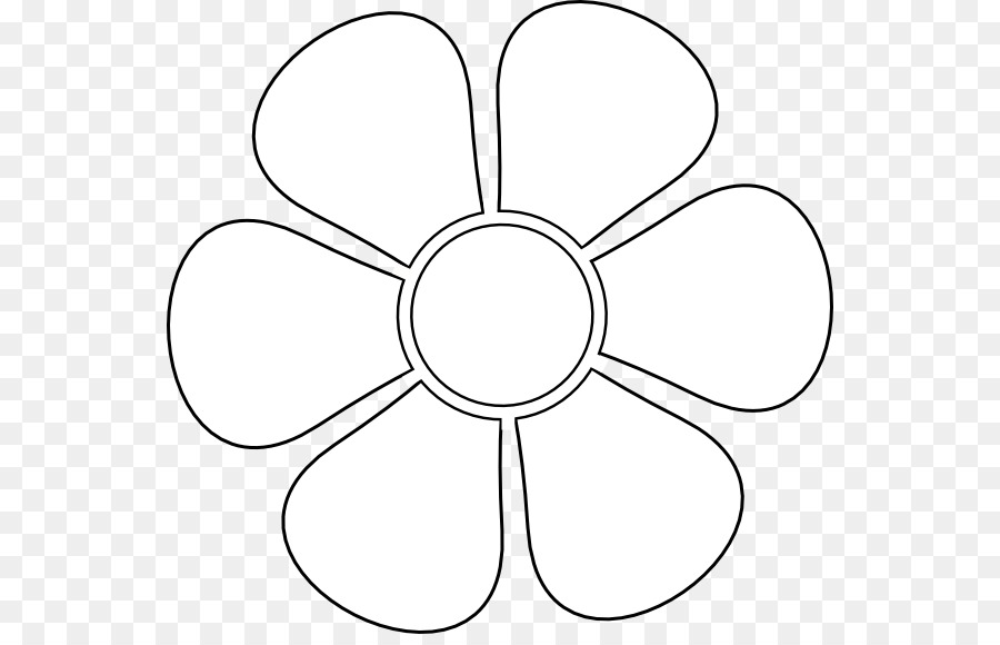 Black And White Flower Clipart Drawing Flower Design