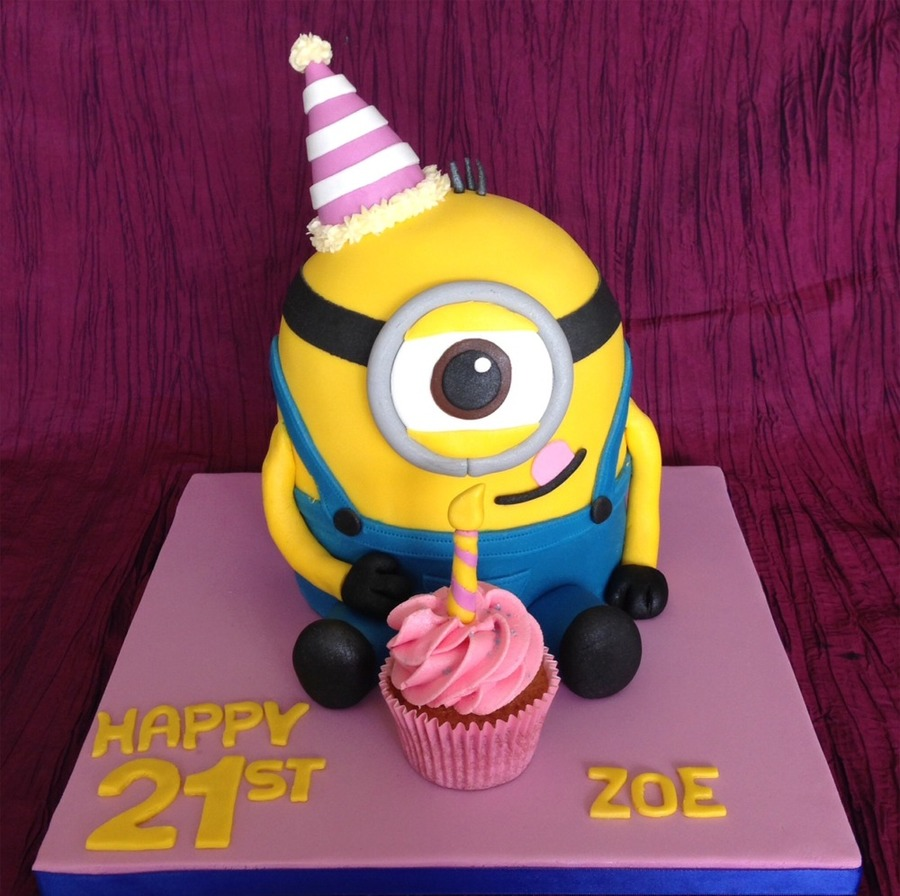 21st Birthday Cake Minion Clipart Cupcake Decorating