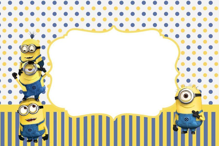 Download Minion Birthday Card Printable Clipart Wedding Invitation