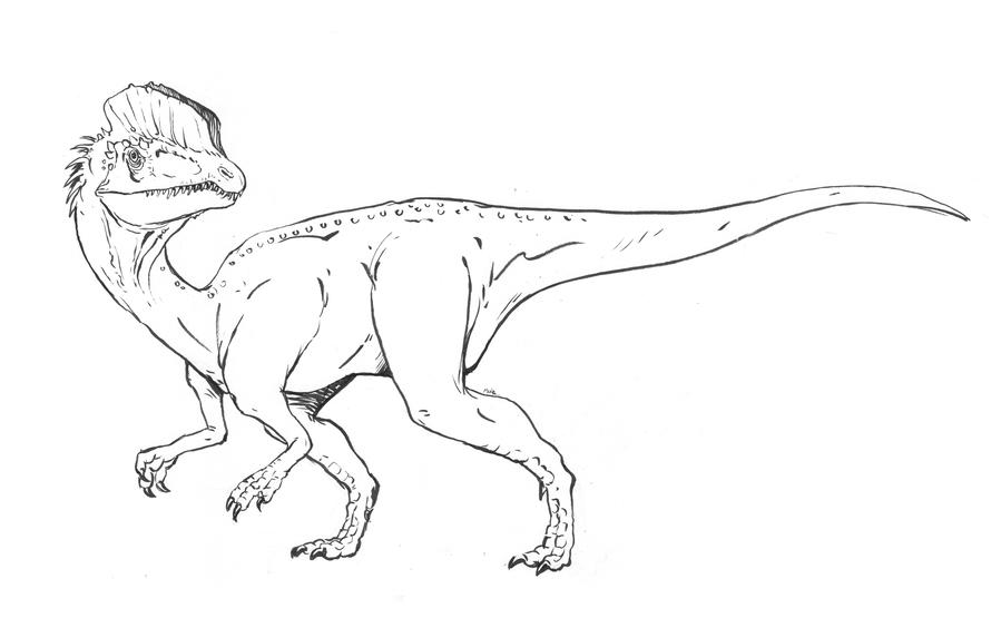Dilophosaurus Jurassic World Coloring Pages Clipart Tyrannosaurus Velociraptor