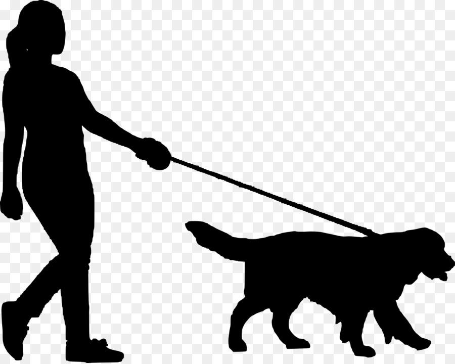 Dog walking. Black line background clipart