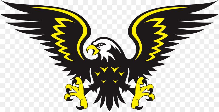 Black And Yellow Eagle Shower Curtain Clipart Bird Bald Clip Art