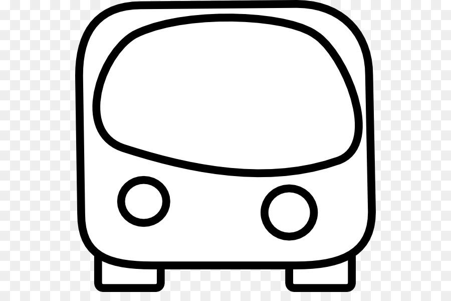 School Black And White Clipart Bus Black Line Transparent