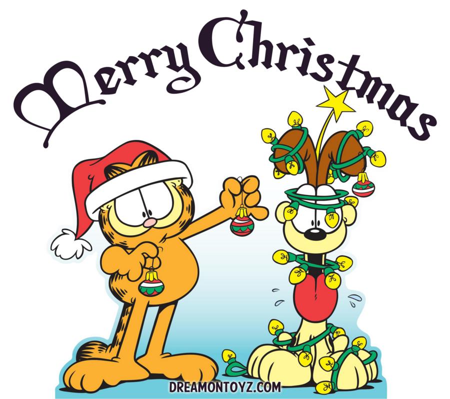 Garfield Christmas.Garfield Christmas Clipart Cartoon Text Product