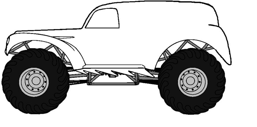 Monster Cartoon Clipart Car Truck Tire Transparent Clip Art