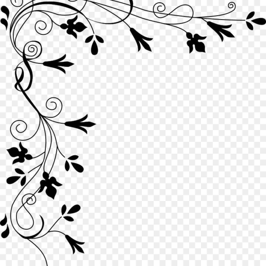 Download Floral Border Black And White Clipart Flower Floral Design