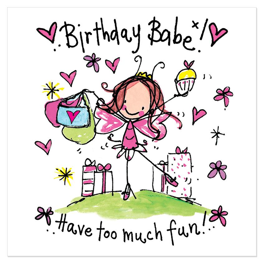 happy birthday nichtje clipart Birthday Wish Greeting & Note Cards