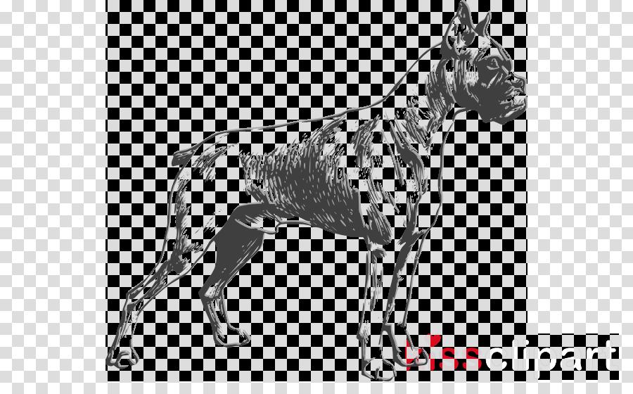 dog boxer vector clipart Boxer Bulldog Clip art