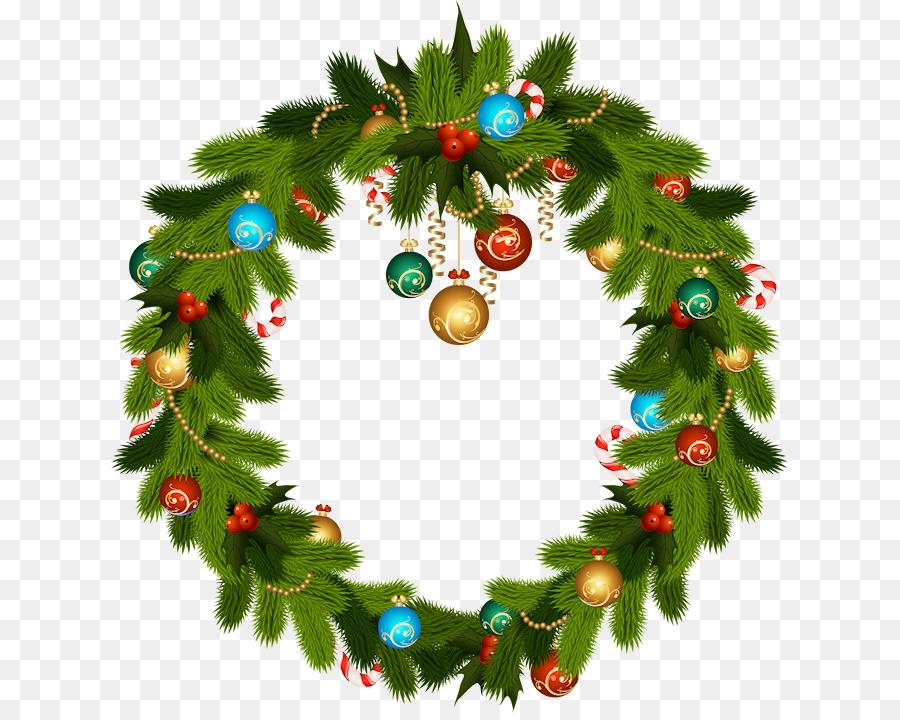Christmas Wreath Clipart.Christmas Wreath Illustration Clipart Wreath Holiday