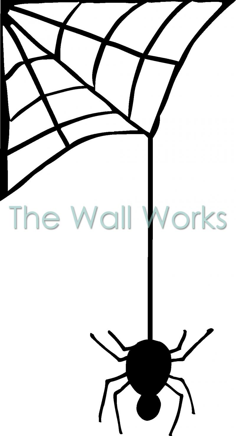 Spider web hanging. Download cartoon from clipart