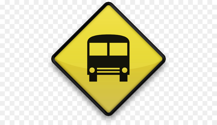 bus sign icon clipart School bus Traffic sign