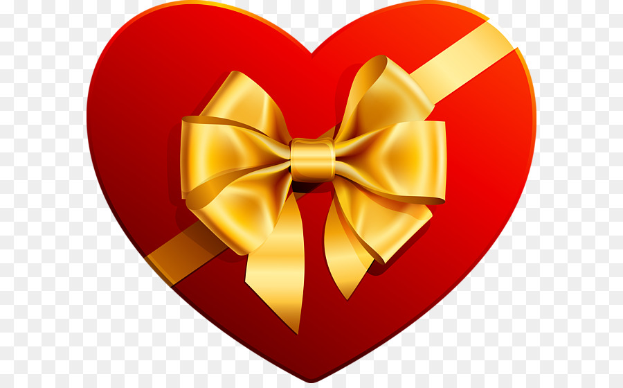 heart with gold ribbon clipart Clip art