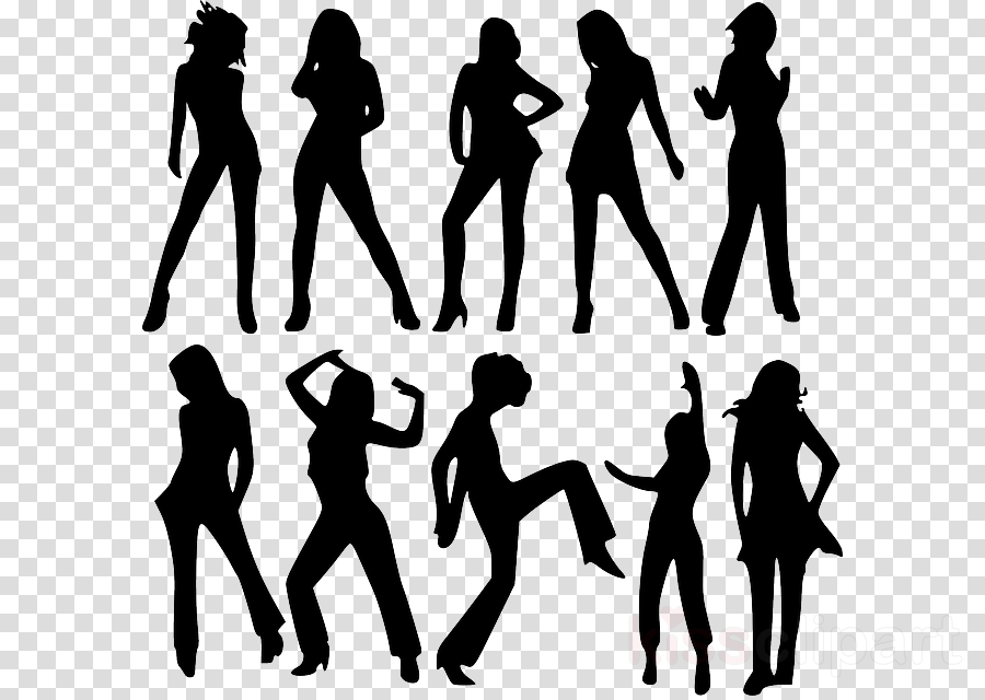 Silhouette Woman Graphics Transparent Image Clipart Free