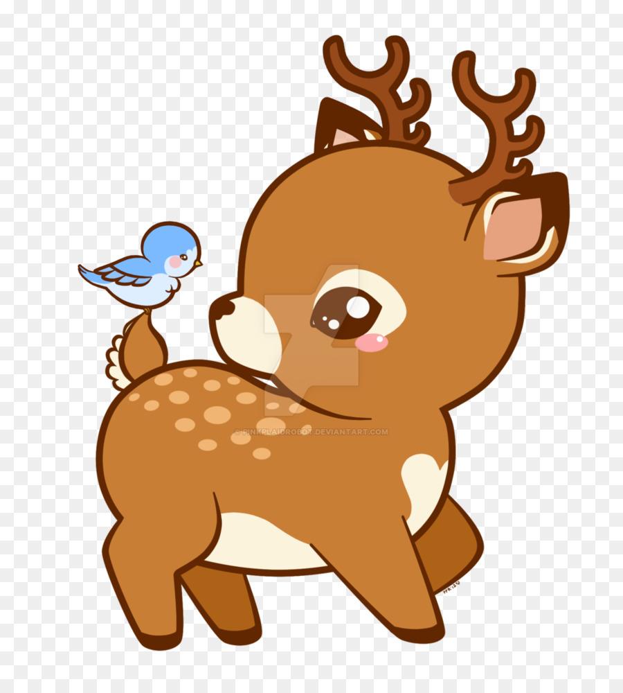 Deer cartoon. Clipart reindeer transparent clip