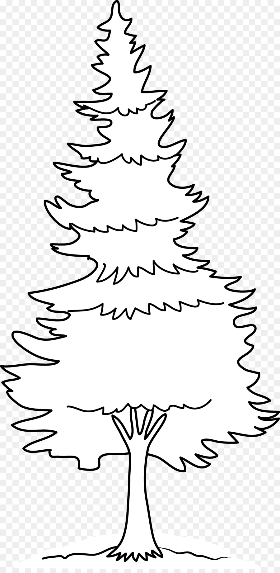 Christmas Images Cartoon Black And White.Christmas Tree Line Drawing Clipart Drawing Tree White