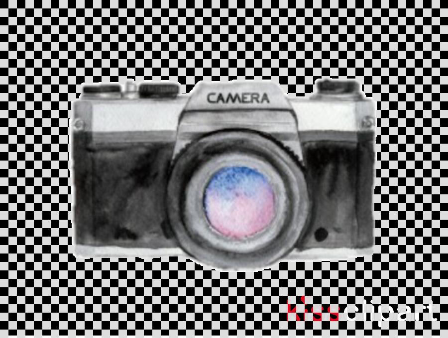 watercolor camera clipart Watercolor painting Camera Photography