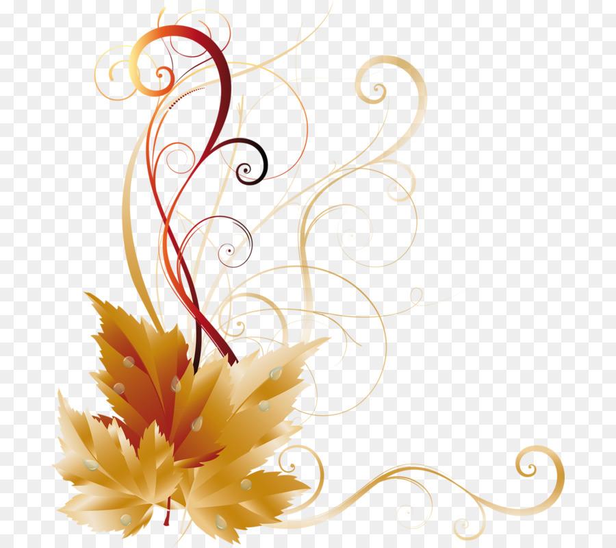 Flower Line Art Clipart Autumn Leaf Flower Transparent