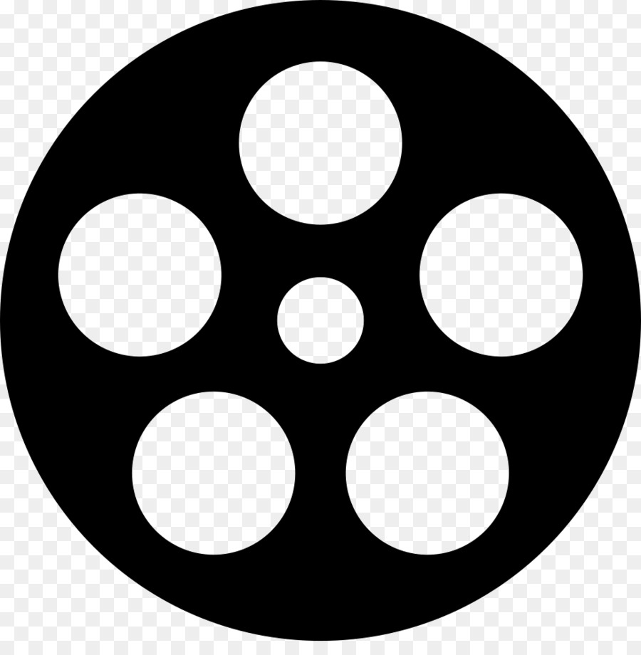 Movie silhouette. Circle clipart film transparent