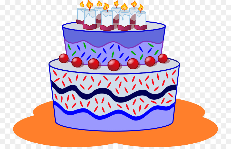 Birthday cake cartoon. Clipart cupcake transparent