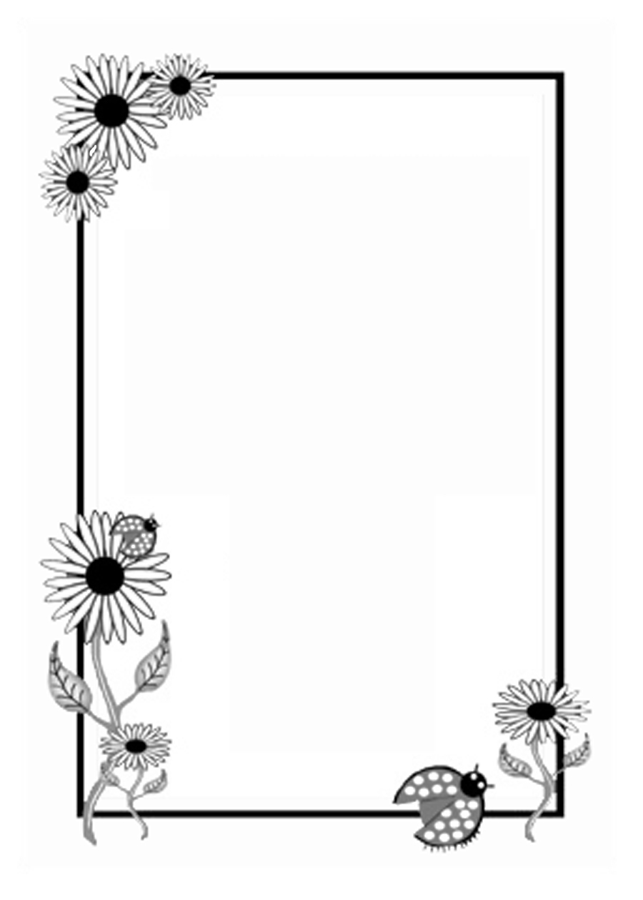 Wedding Flower White Black Line Design Rectangle Font