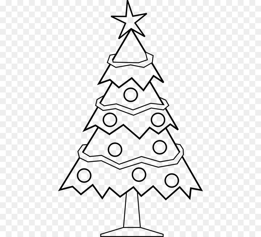 Christmas Tree Line Drawing Clipart Drawing Illustration