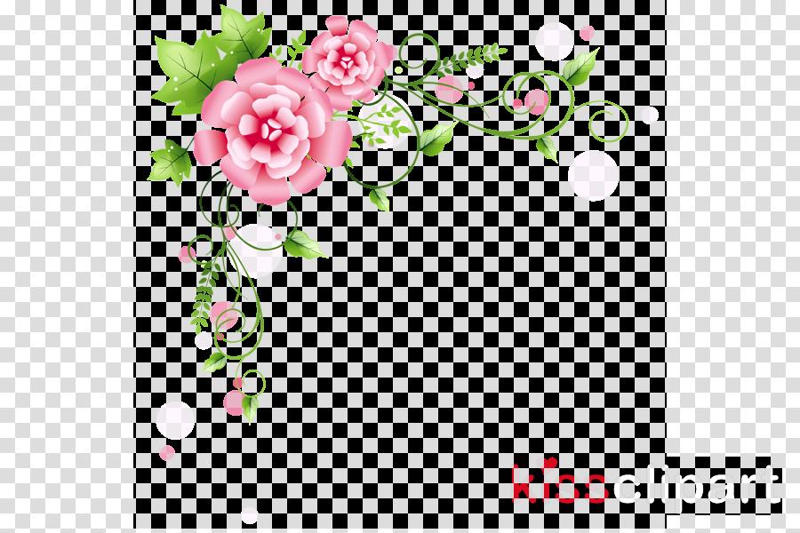 Floral Border Design Transparent