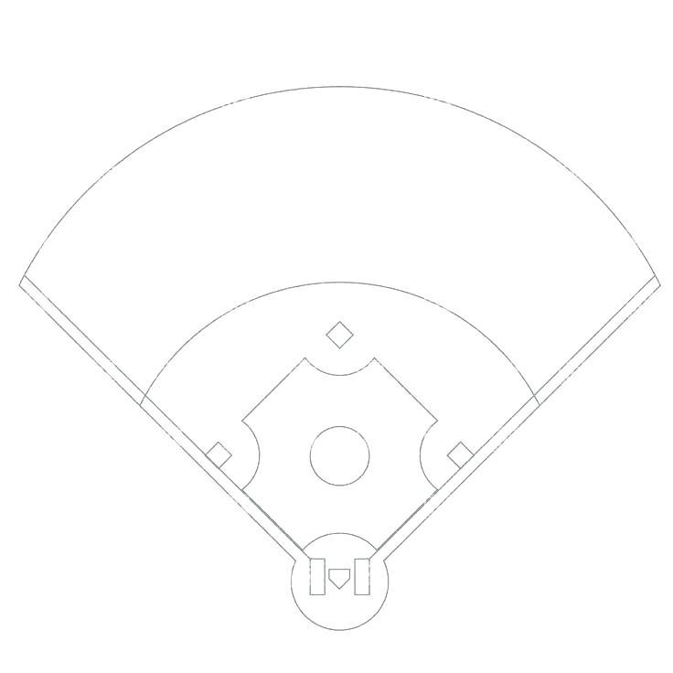 Download Baseball Field Diagram Clipart Baseball Field Softball