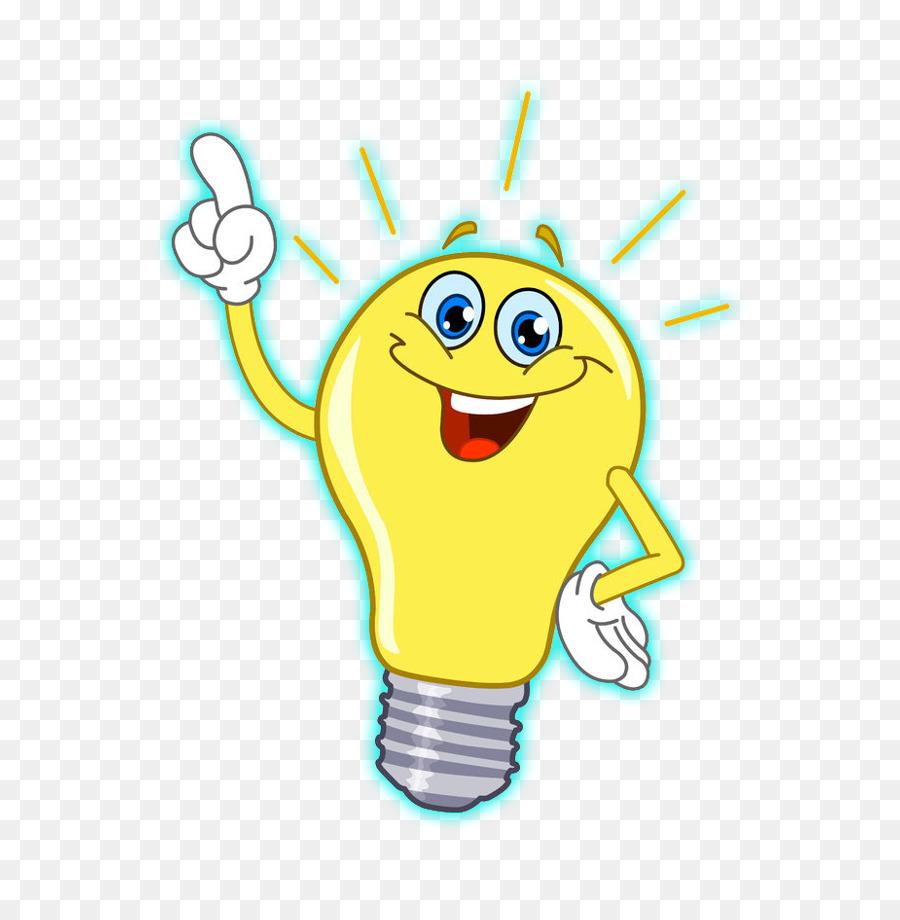 Light bulb cartoon. Clipart lamp transparent clip