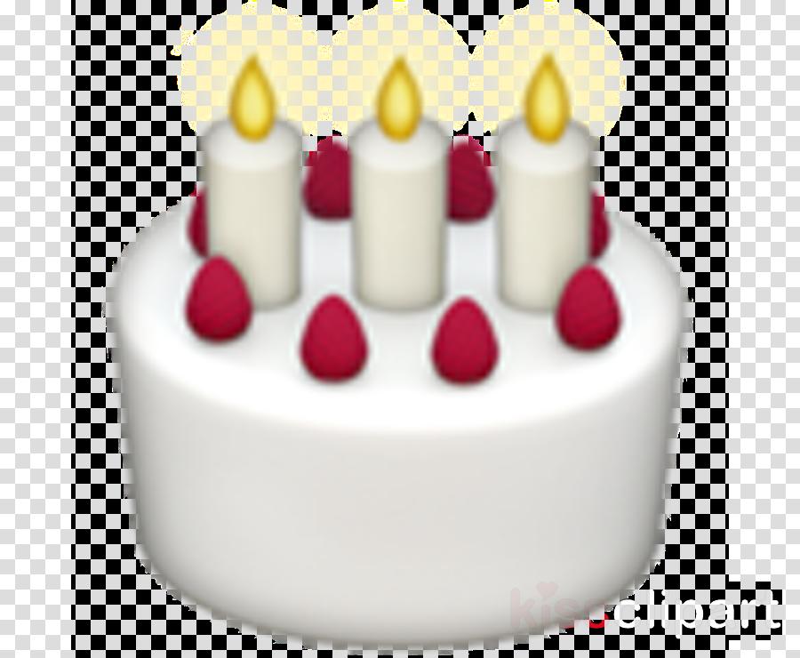 Birthday Cake Emoji Apple Clipart