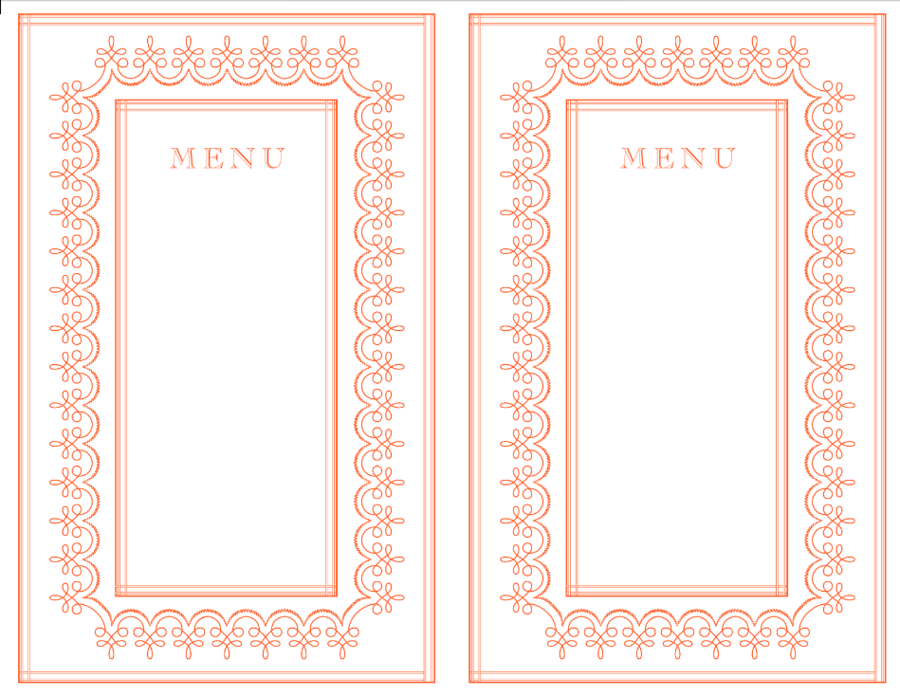 Pink wedding menu | printable templates | hands in the attic.