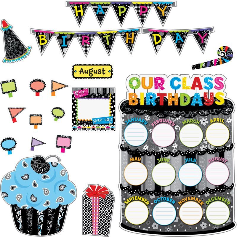 Creative Teaching Press Ctp0962 Our Class Birthdays Chart Clipart Birthday Classroom Bulletin Boards