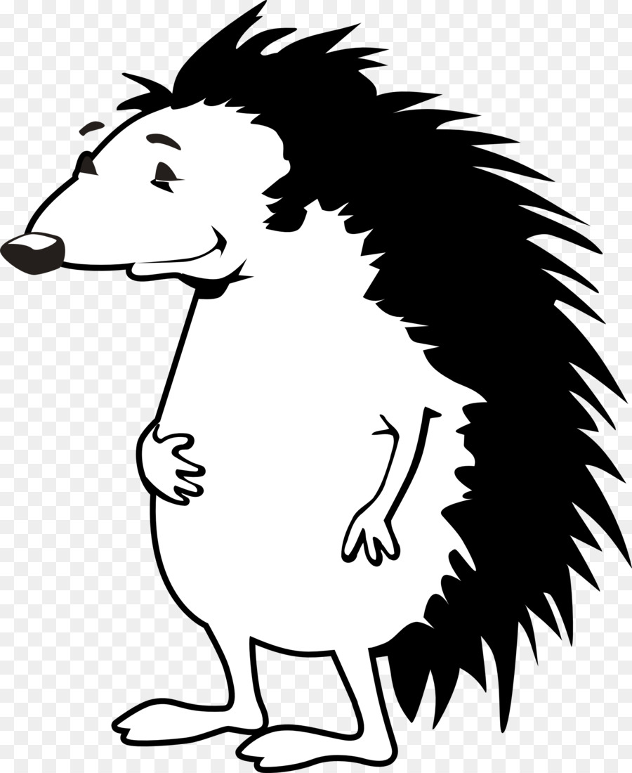 White Background Clipart Illustration Hedgehog White