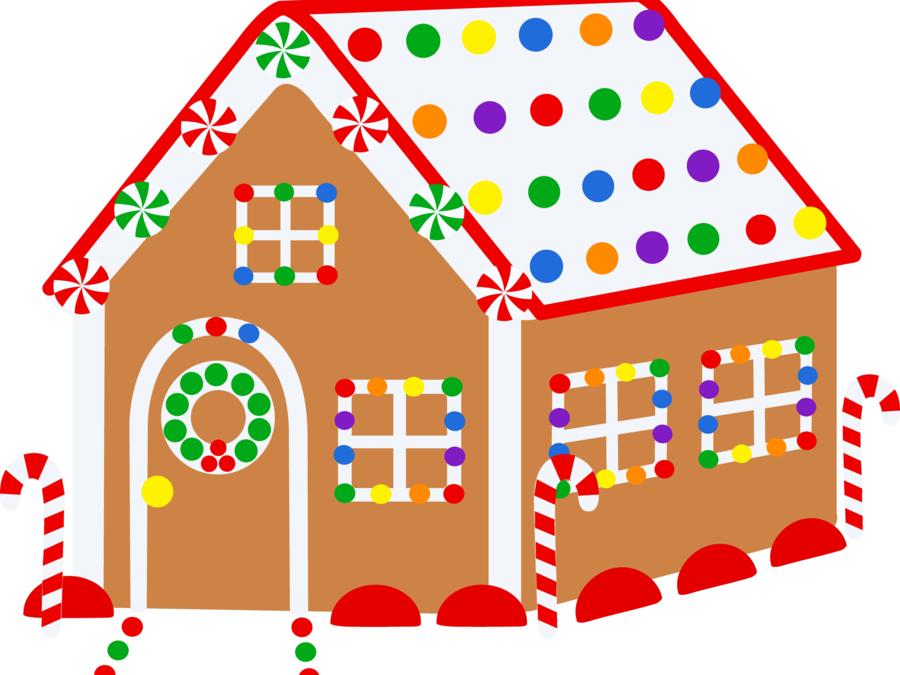 Christmas Decoration Cartoon Clipart House Product Home