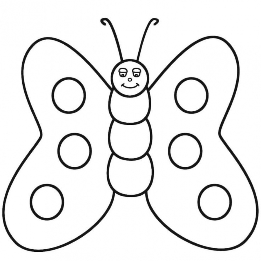 hearts and butterflies coloring page free printable - 900×900