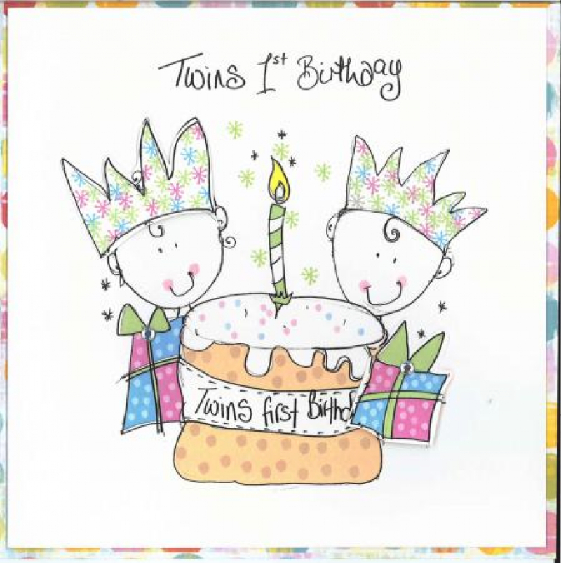Birthday Card For Twins Clipart Greeting Note Cards Wedding Invitation
