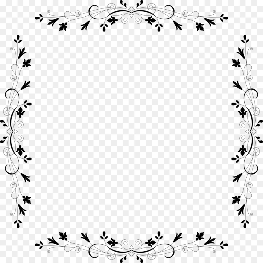 Border Design Black And Whitetransparent Png Image Clipart Free