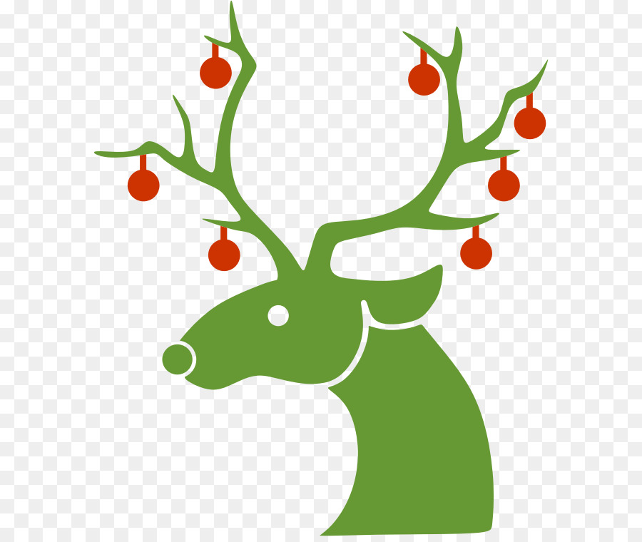 Download reindeer silhouette christmas clipart Reindeer Santa Claus ...