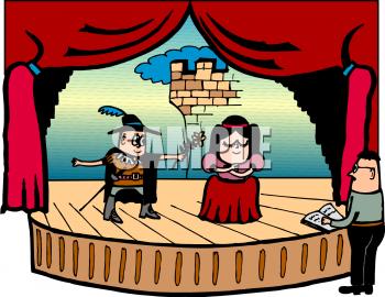 Cartoon School Clipart Theatre Play Stage Transparent Clip Art