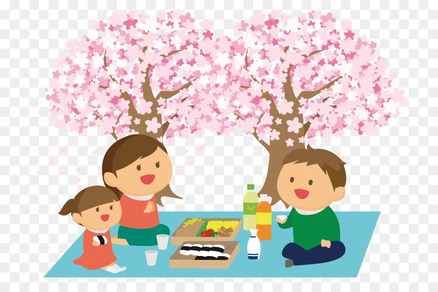 cherry blossom viewing cartoon clipart Cherry blossom Hanami