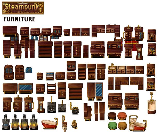 Gothic Furniture | Pixel art games, Rpg maker vx, Rpg maker