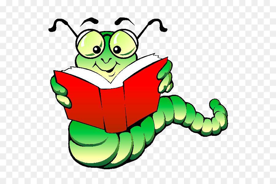Book Drawing Clipart Bookworm Worm Cartoon Transparent Clip Art