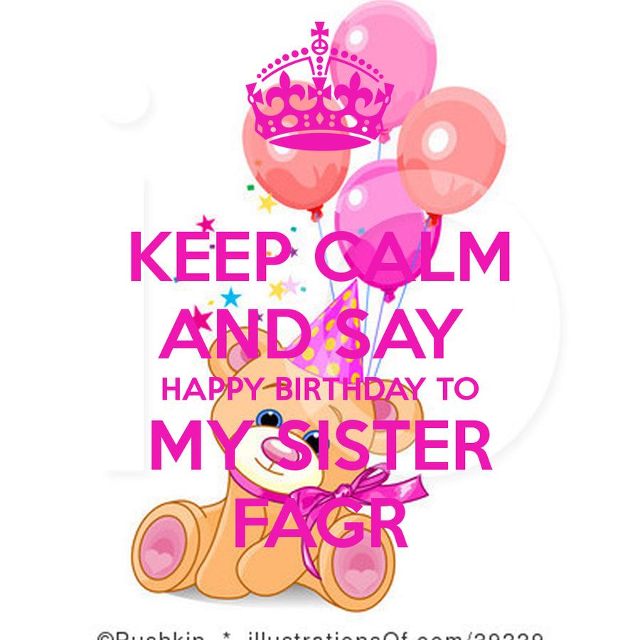 Say Happy Birthday Sister Clipart Balloon Clip Art