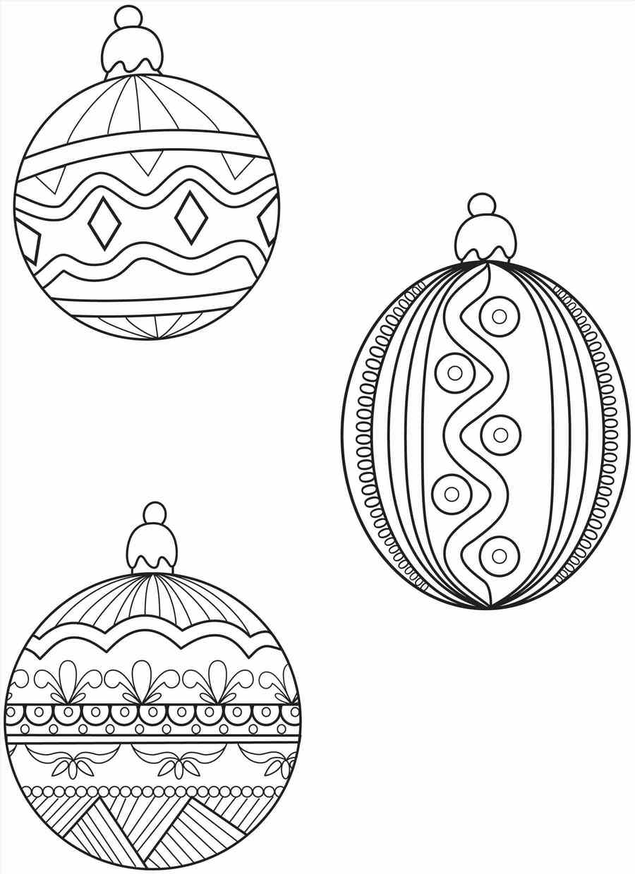 Download coloring page christmas ornament clipart ...