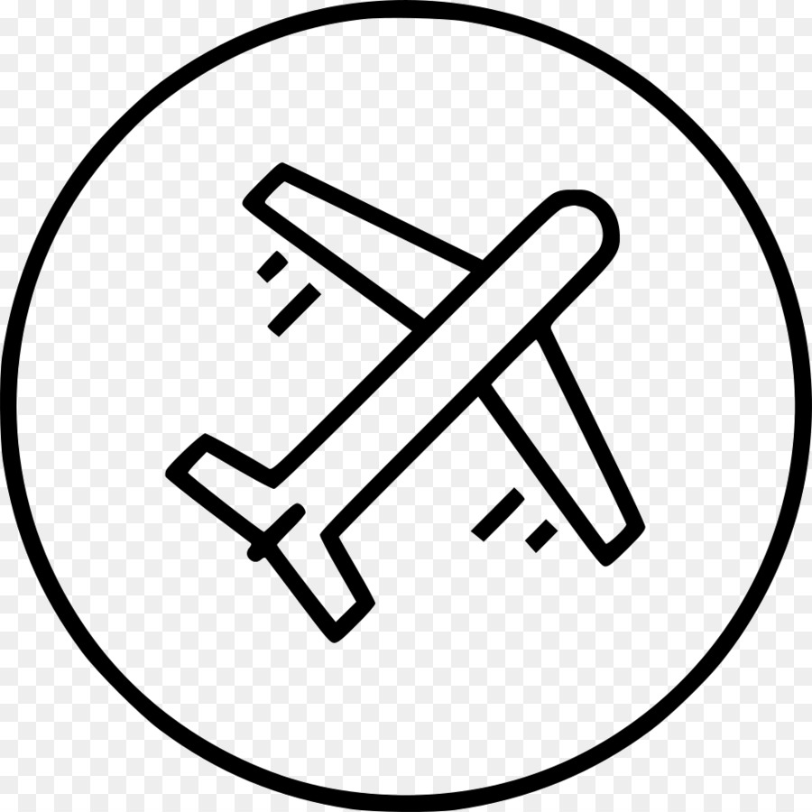 Airplane white. Black transparent png image