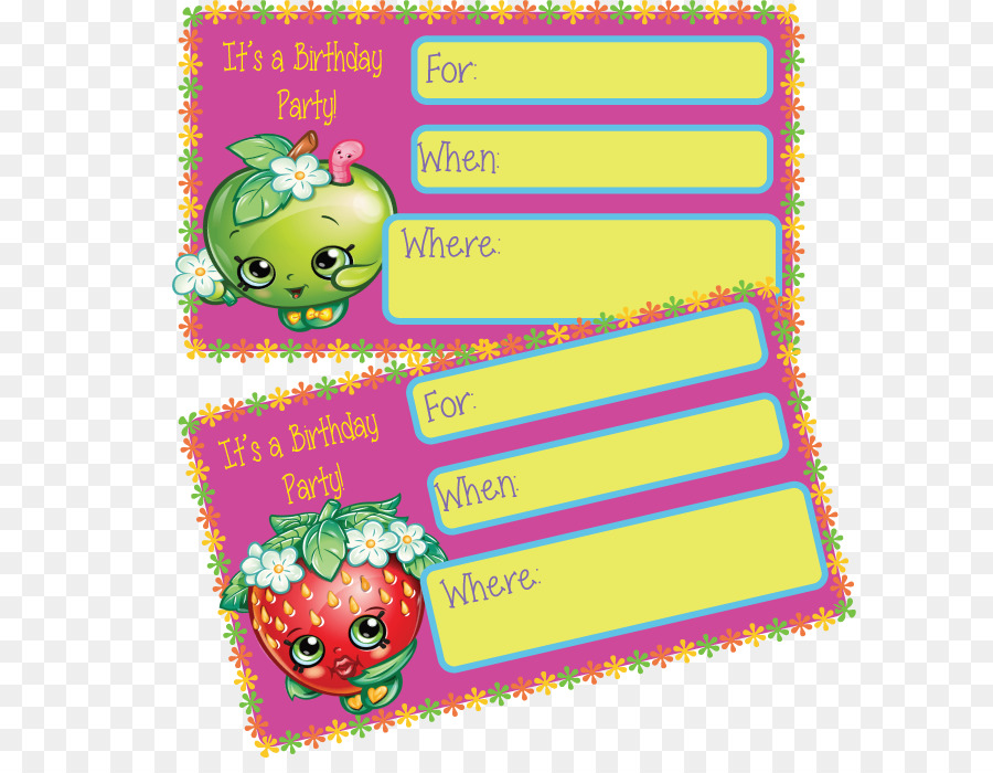 Free Prints Shopkins Birthday Invitations Clipart Wedding Invitation Party