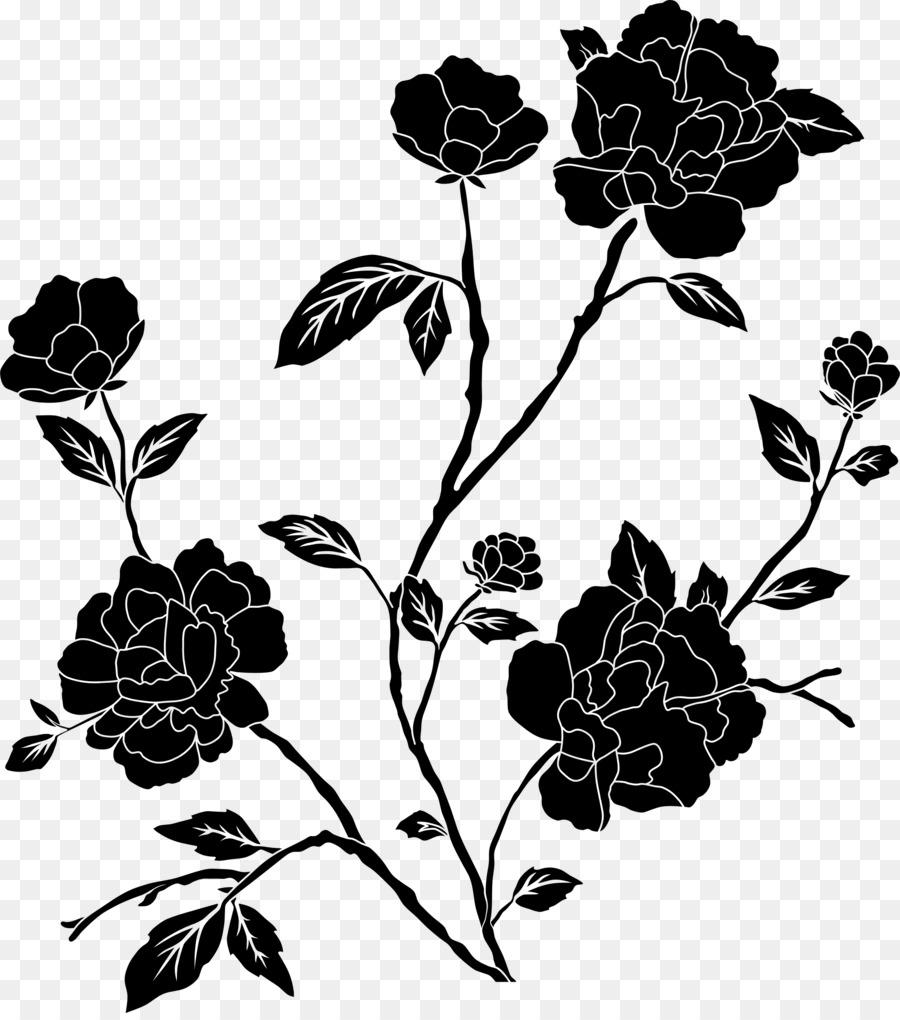 black flower png clipart Rose Clip art