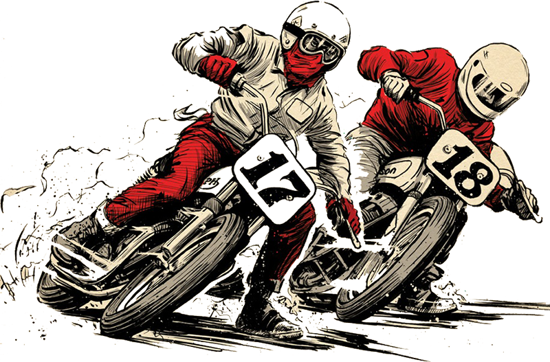 flat track motorcycle racing clipart Dirt track racing Motorcycle racing