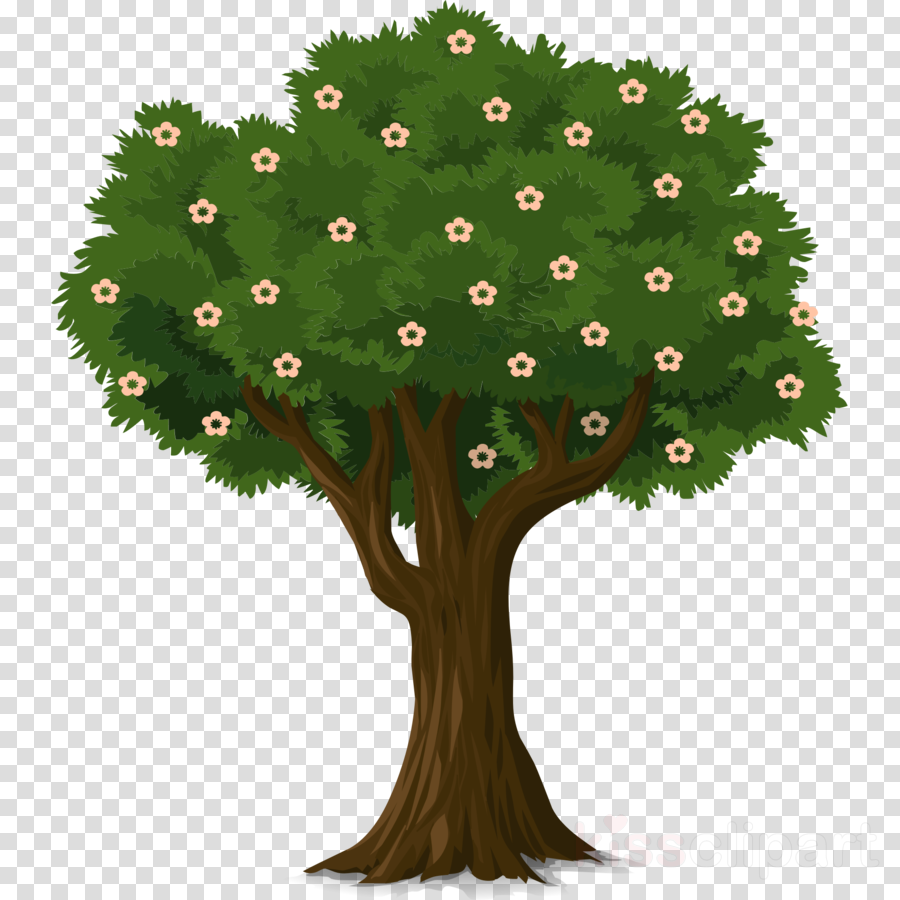 tree with flower clipart Christmas Graphics Tree flowers Clip art