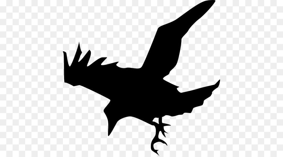 raven silhouette clipart Common raven Clip art